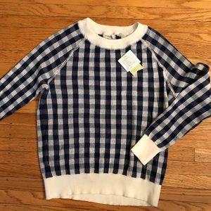 Anthropologie Preston Checked Cotton Sweater
